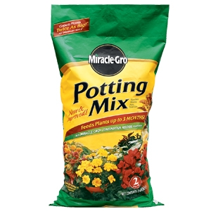 Scotts Miracle Grow 2 cu. ft. Potting Mix Plus Miracle-Gro Plant Food