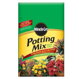 Scotts Miracle Grow 8 quart Potting Mix