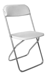 White and Chrome Folding Chair