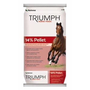 Triumph® 14% Pelleted Horse Feed
