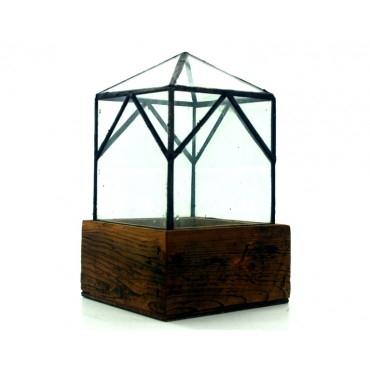 Lead Head Glass Terrariums