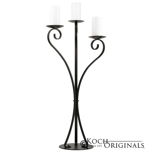 Bronze 3 Pillar Candle Candelabra