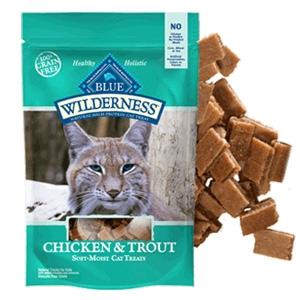 Blue Buffalo BLUE Wilderness Chicken & Trout Natural Soft-Moist Treats
