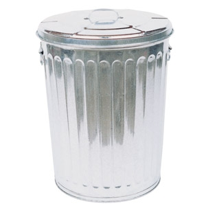 30 Gal. Galvanized Trash Can just $17.99!