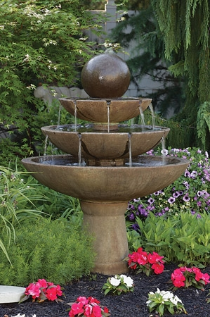 Tranquility Sphere Spill Fountain
