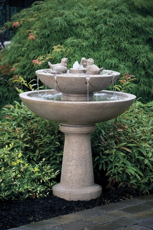 Tranquility Spill Fountain with Birds