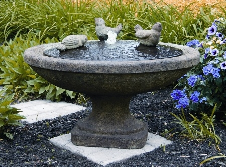 Singing Birds Oval Cement Fountain