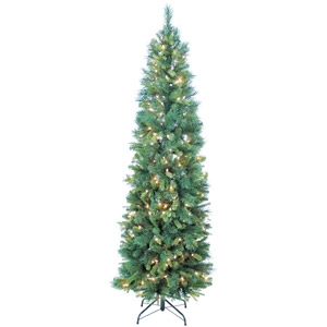 7.5' Pre-lit Rockingham Lifelike Fir Slim Tree