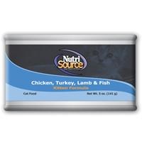 TUFFY'S NutriSource Cat/Kitten Turkey/Chicken/Lamb/Fish Can 12/5
