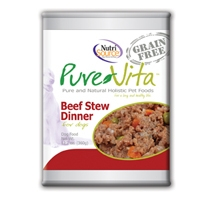 Pure Vita Grain Free Beef Stew Dog Food, CANNED, 12/12.7oz.