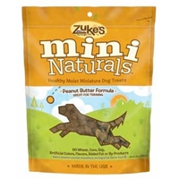 Zuke's Performance Mini Naturals Peanut Butter Flavor 1 Lb Bag