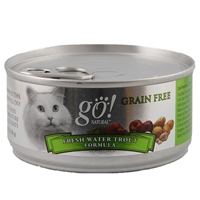 Petcurean Go! Natural Grain Free Cat Can Freshwater Trout