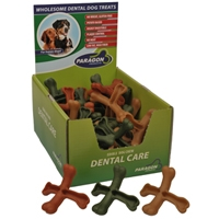 Paragon Cross Bone Dental Dog Treat 50 ct. Display Box