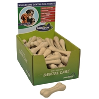 "Paragon Vegetarian Rice Bone Dental Dog Treat 4.3"" 50 ct. Display Box"