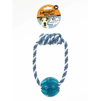 JW Pet Company Megalast Ball With Rope Medium