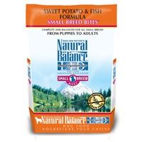 Natural Balance Sweet Potato & Fish Formula Small Breed Bites, 6/5 Lb