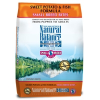 Natural Balance Sweet Potato & Fish Formula Small Breed Bites, 12.5 Lb