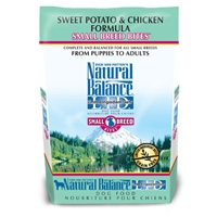 Natural Balance Sweet Potato & Chicken Formula Small Breed Bites, 6/5 Lb
