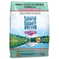Natural Balance Sweet Potato & Chicken Formula Small Breed Bites, 12.5 Lb