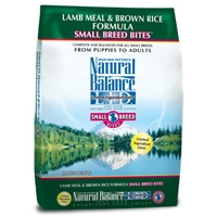 Natural Balance Lamb & Brown Rice Formula Small Breed Bites, 12.5 Lb