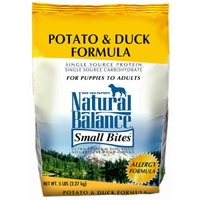 Natural Balance Limited Ingredient Diet Duck & Potato Small Bite Dry Dog Food 5 lb.