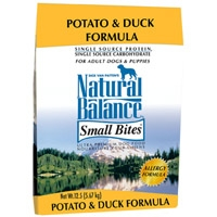 Natural Balance Limited Ingredient Diet Duck & Potato Small Bite Dry Dog Food 12.5 lb.
