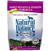 Natural Balance Limited Ingredient Diet Venison & Sweet Potato Dry Dog Food 6/5 lb.