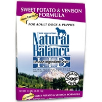 Natural Balance Limited Ingredient Diet Venison & Sweet Potato Dry Dog Food 15 lb.