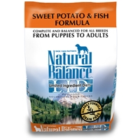 Natural Balance Limited Ingredient Diet Fish & Sweet Potato Dry Dog Food 6/5 lb.