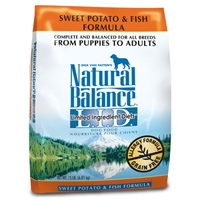 Natural Balance Limited Ingredient Diet Fish & Sweet Potato Dry Dog Food 15 lb.