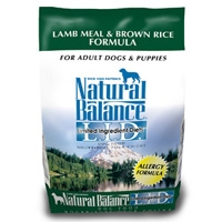 Natural Balance Limited Ingredient Diet Lamb Meal & Brown Rice Dry Dog Food 6/5 lb.