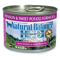 Natural Balance Limited Ingredient Diets Venison & Sweet Potato Canned Dog Food 12/6 oz.