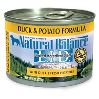 Natural Balance Limited Ingredient Diets Duck & Potato Canned Dog Food 12/6 oz.