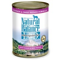 Natural Balance Limited Ingredient Diets Venison & Sweet Potato Canned Dog Food 13 oz.