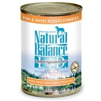 Natural Balance Limited Ingredient Diets Fish & Sweet Potato Canned Dog Food 12/13 oz.
