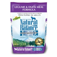 Natural Balance LID Legume & Duck Dry Dog 4/5Lb