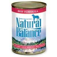 Natural Balance Beef & Rice Can Dog Formula 12/13 oz.