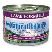 Natural Balance Lamb & Rice Can Dog 12/6 oz.