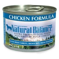 Natural Balance Chicken & Rice Formula Can Dog 12/6 oz.