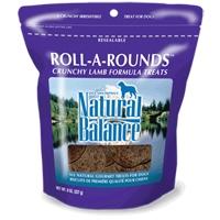 Natural Balance Roll-A-Rounds Lamb & Rice 12/8 oz.