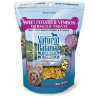 Natural Balance Limited Ingredient Diets Venison & Sweet Potato Small Breed Treats 12/8 oz.