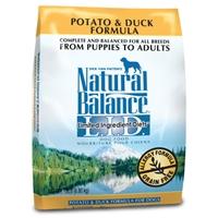 Natural Balance Potato & Duck Dry Dog, 15 Lb