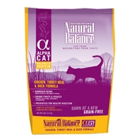 Natural Balance Alpha Cat Chicken, Turkey & Duck Dry Cat Food 4/5Lb