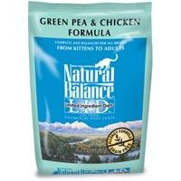 Natural Balance Limited Ingredient Diets Green Pea & Chicken Dry Cat Food 6/5 lb.