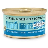 Natural Balance Limited Ingredient Diets Chicken & Green Pea Canned Cat Food 24/3 oz.