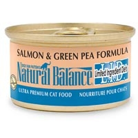 Natural Balance Limited Ingredient Diets Salmon & Green Pea Canned Cat Food 24/3 oz.