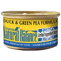 Natural Balance Limited Ingredient Diets Green Pea & Duck Canned Cat Food 24/3 oz.