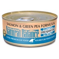 Natural Balance Limited Ingredient Diets Salmon & Green Pea Canned Cat Food 24/6 oz.