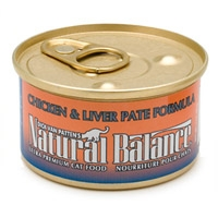 Natural Balance Chicken & Liver Canned Cat Food 24/6 oz.