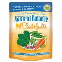 Natural Balance Platefulls Turkey, Chicken & Duck Formula in Gravy 3 Oz